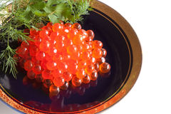 Red caviar (close-up) Stock Photo