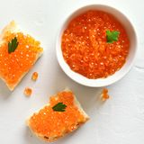 Red caviar royalty free stock images
