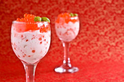 Red caviar with cream cheese Royalty Free Stock Photos