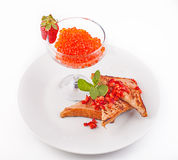 Red Caviar in glass Royalty Free Stock Photography