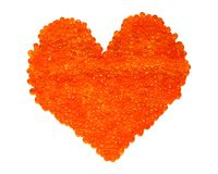 Red caviar heart Royalty Free Stock Photo