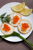 Red Caviar Holiday Breakfast Stock Photography