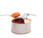 Red caviar isolated royalty free stock image