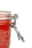 Red caviar in the jar. Close up Royalty Free Stock Photos