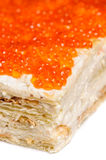 Red caviar pie Royalty Free Stock Photography