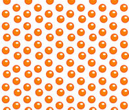 Red caviar seamless pattern. Roe endless background, texture, wallpaper. Vector illustration. Royalty Free Stock Image