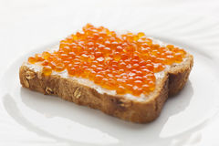 Red Caviar Sendwich Royalty Free Stock Images