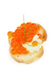 Red Caviar Snack Royalty Free Stock Images