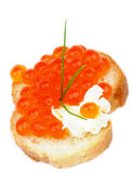 Red Caviar Snack Royalty Free Stock Image