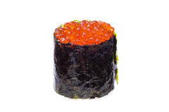 Red caviar sushi Stock Images