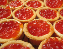 Red caviar in a tartlet. Stock Photos