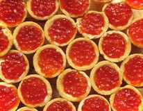 Red caviar in a tartlet Royalty Free Stock Image