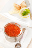 Red caviar with toast Royalty Free Stock Image