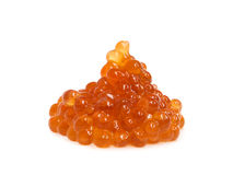 Red caviar on white Stock Image
