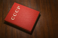 Red CCCP book on the table Royalty Free Stock Photo