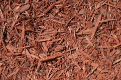 Red Cedar Mulch Background. Red cedar wood chips background Royalty Free Stock Photos