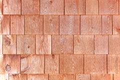 Red cedar shingle siding Stock Images