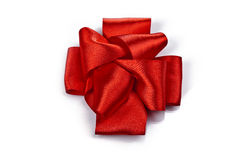 Red celebratory bow Stock Photo