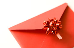 Red celebratory envelope Royalty Free Stock Image