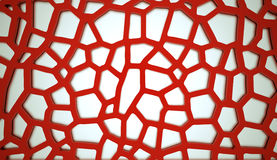 Red cell mesh concept Stock Photo