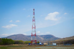 Red cell tower Royalty Free Stock Image