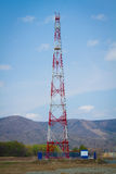 Red cell tower Stock Photography
