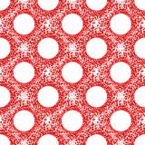Blood Circles Seamless Pattern. Red cells blood circles abstract background seamless pattern Royalty Free Stock Image