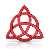 Red celtic trinity knot. On white background Stock Photography