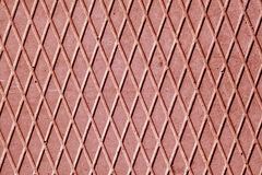 Red cement floor with rhombus pattern. Stock Photography