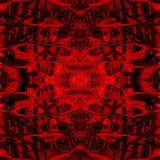 Red cephalopods. In the middle of the image have visible the strange fantastic red cephalopods, which have big eyes Stock Photo