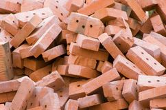 Red ceramic brick Stock Photography