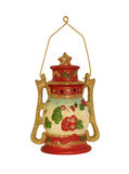 Red ceramic candle lamp Royalty Free Stock Photo