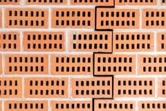 Red Ceramic Construction Bricks Stock Photo