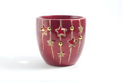 Red ceramic cup Royalty Free Stock Photos