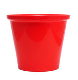 Red Ceramic Flower Pot Stock Image