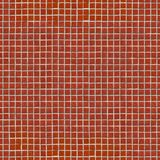 Red Ceramic Mosaic. Seamless Tileable Texture. Stock Photo