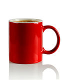Red ceramic mug Stock Image