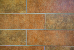 Red ceramic tiles Royalty Free Stock Photography