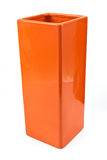 Red ceramic vase Royalty Free Stock Image