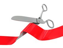 Red ceremony ribbon Royalty Free Stock Images