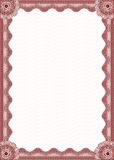 Red certificate border Royalty Free Stock Image