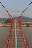 Red chain bridge Royalty Free Stock Photography
