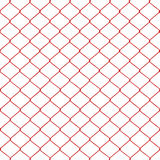 Red chainlink fence Stock Photo