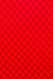 Red Chainlink Fence Shadow Stock Photography