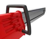 Red chainsaw Royalty Free Stock Images