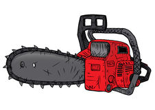 Red chainsaw Royalty Free Stock Photography