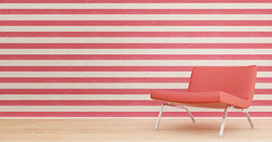 Red chair. Red line and red chair Royalty Free Stock Images
