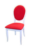 Red chair. With white legs Stock Photo