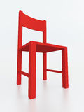 Red Chair. On White Background Stock Images
