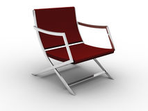 Red chair. Chrome and red chair design Royalty Free Stock Photos